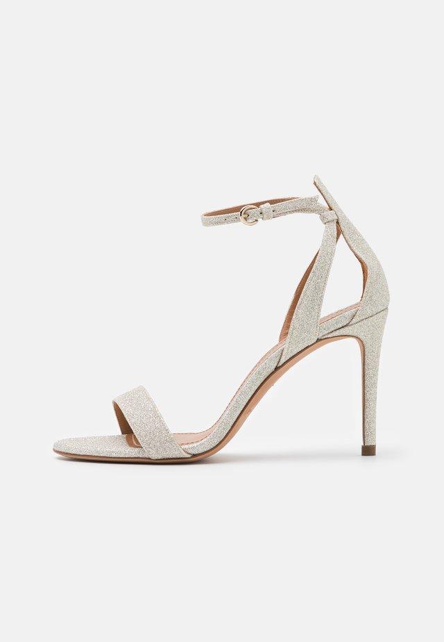 Sandals - glitter platin