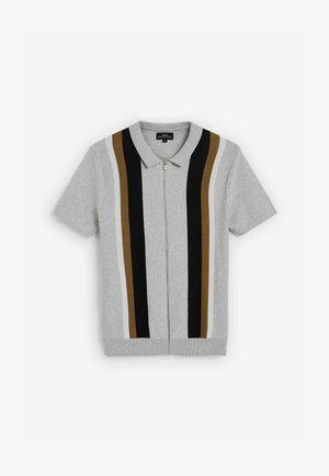 Cardigan - grey/black/brown