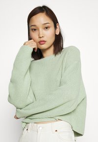 Even&Odd - CROPPED JUMPER - Pullover - light green - 3