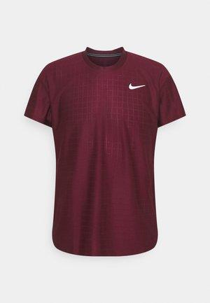 T-Shirt basic - dark beetroot/white