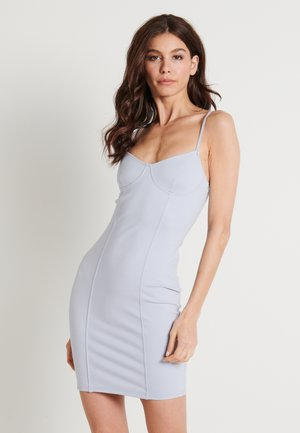 ZALANDO X NA-KD SEAM DETAIL MINI DRESS - Cocktail dress / Party dress - dusty blue