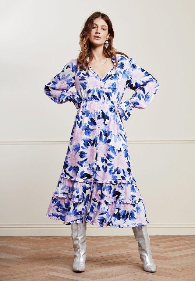 Korte jurk - cream white / lilac
