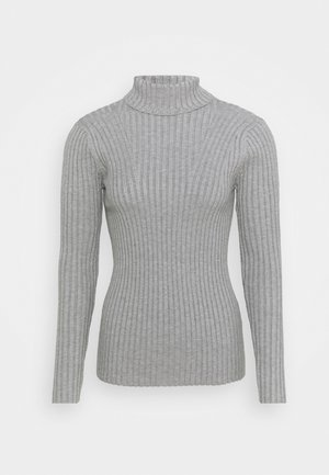 ERICA ROLL NECK - Jumper - grey melange
