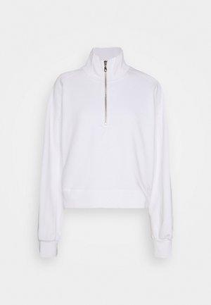 ALDORA HALF ZIP - Sweatshirt - white