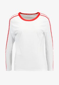Calvin Klein Jeans - MONOGRAM TAPE STRAIGHT TEE - Long sleeved top - bright white / red - 4