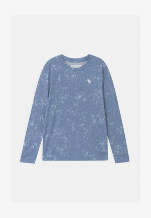 PATTERN - Long sleeved top - blue