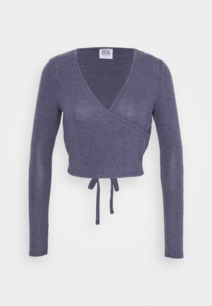 COZY BALLET WRAP - Strikkegenser - purple
