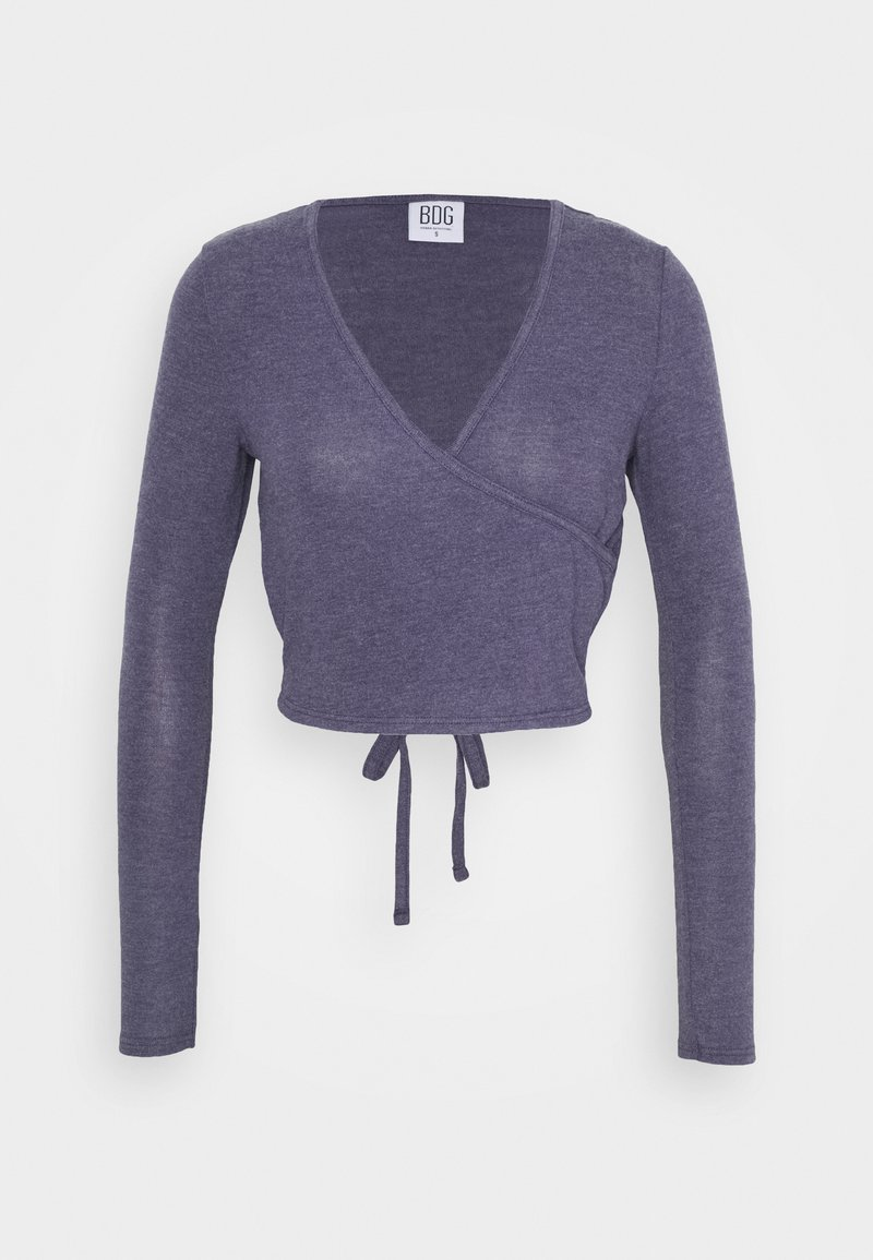 BDG Urban Outfitters - COZY BALLET WRAP - Strikkegenser - purple