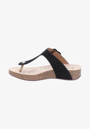 TONGA - T-bar sandals - schwarz