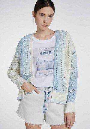 Cardigan - white blue