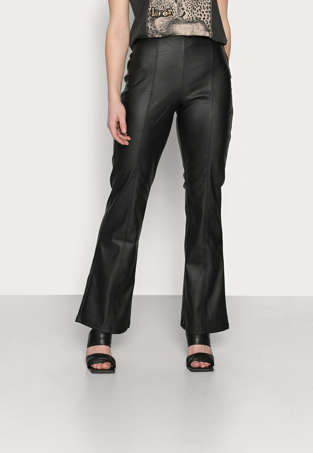 PENNY TROUSERS - Tygbyxor - black