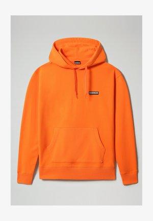 B-PATCH HOOD - Luvtröja - orangeade