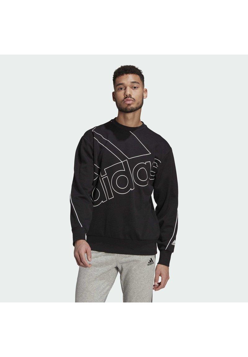 adidas Performance - GIANT LOGO SWEATSHIRT (GENDER NEUTRAL) - Felpa - black