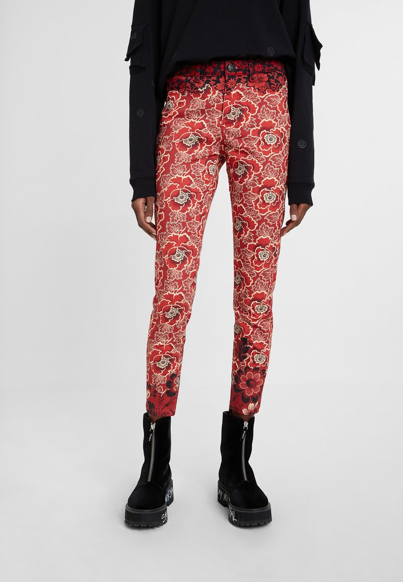 Desigual - DESIGNED BY M. CHRISTIAN LACROIX - Pantalones - red