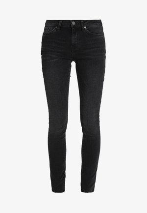 SLFIDA WASH - Skinny džíny - black denim