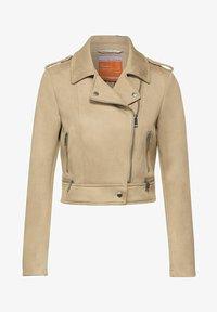 Street One - Faux leather jacket - beige - 3