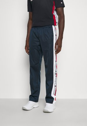 STRAIGHT HEM PANTS - Tracksuit bottoms - navy/white/red