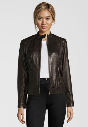 Leather jacket - dark brown