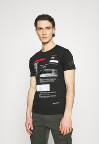 Gianni Lupo - T-shirt imprimé - black - 0