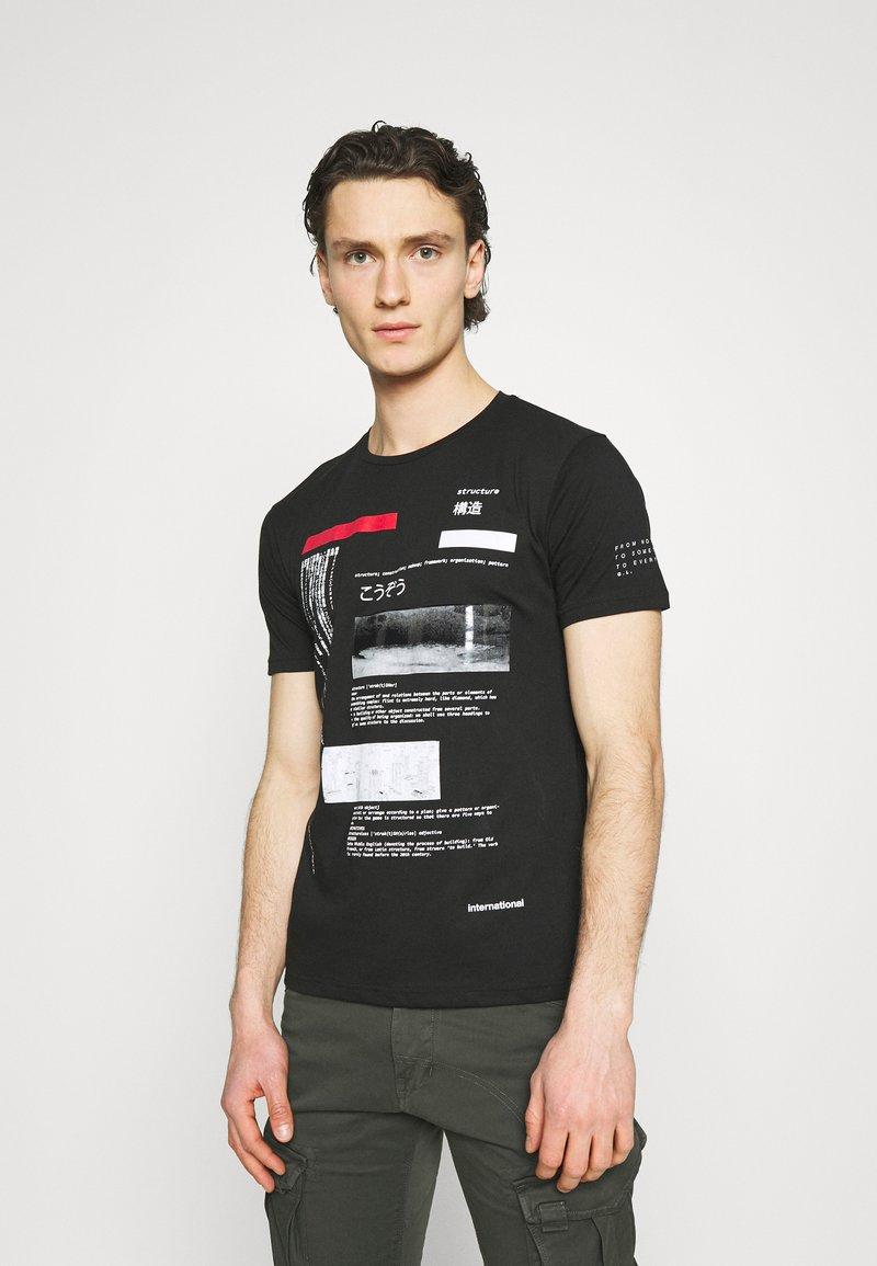 Gianni Lupo - T-shirt imprimé - black