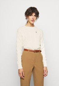 Polo Ralph Lauren - LONG SLEEVE - Jersey de punto - croquet cream - 0