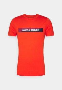 Jack & Jones - JACTREVOR TEE 3 PACK - Pyjama top - fiesta/white/navy blazer - 2