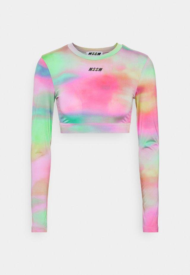 T-shirt à manches longues - green/pink