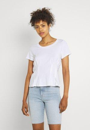 CORSET TEE - Jednoduché triko - white