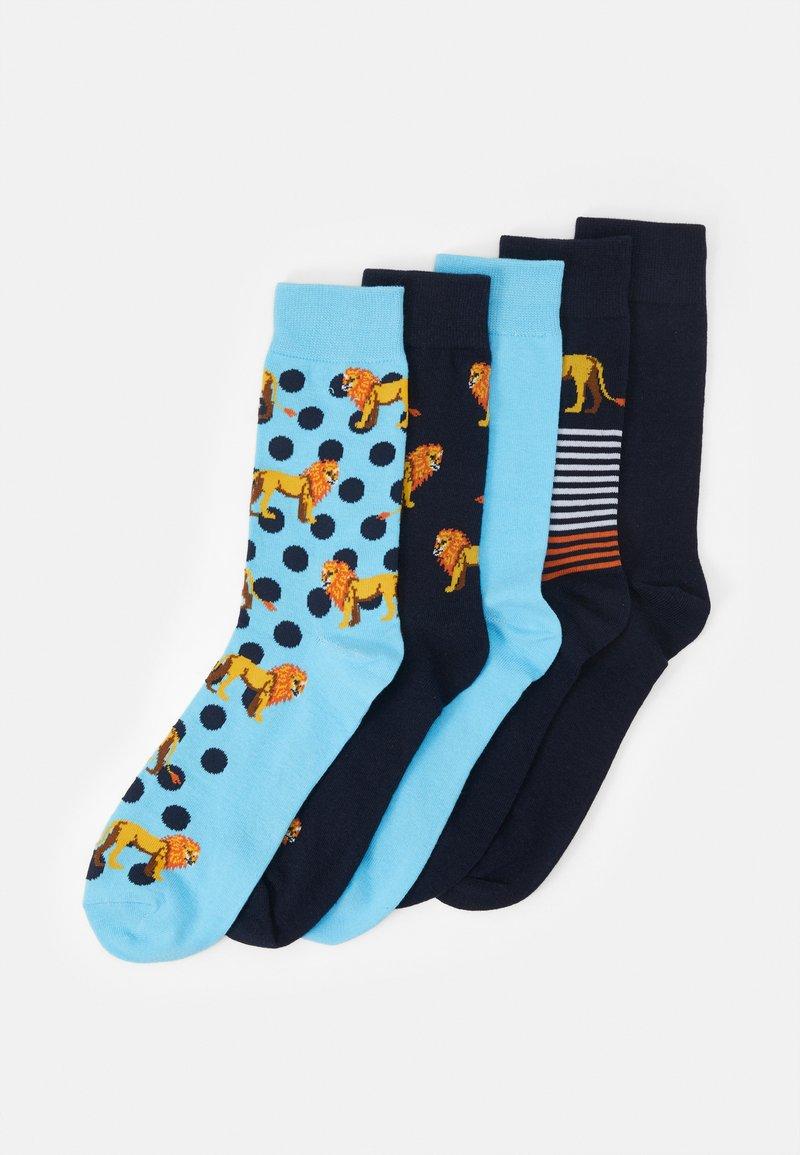 Jack & Jones - JACLION SOCK 5 PACK - Socks - navy blazer/navy blazer/baltic se