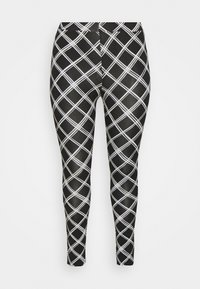 Simply Be - CHECK - Leggings - Trousers - black - 0