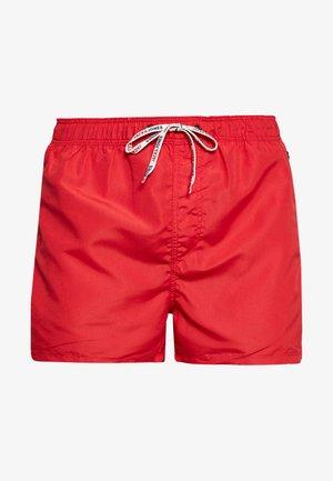 JJIARUBA SWIMSHORTS ZIP - Swimming shorts - mars red
