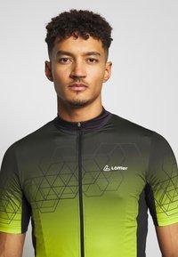 LÖFFLER - BIKE EVO - T-Shirt print - black/light green - 3