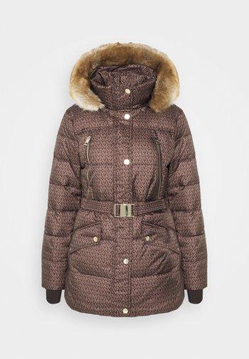 BELTED COAT - Vinterkåpe / -frakk - brown