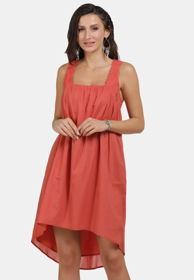 Korte jurk - rost