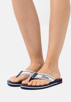 T-bar sandals - white/navy/red