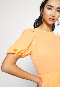 Never Fully Dressed - TIERED SHEER MIDI DRESS - Denní šaty - orange - 5