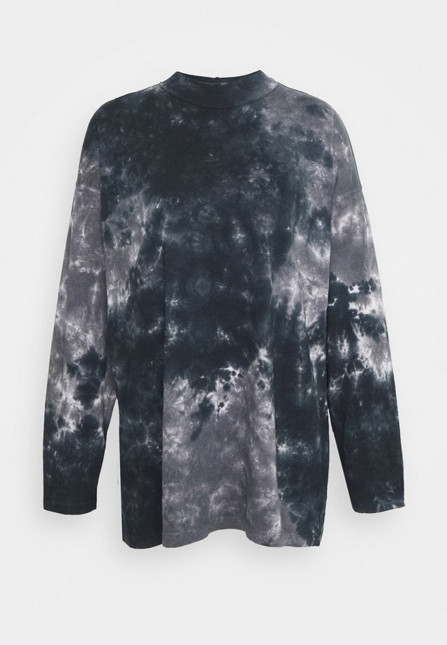 FREE TIE DYE TEE - Long sleeved top - charcoal