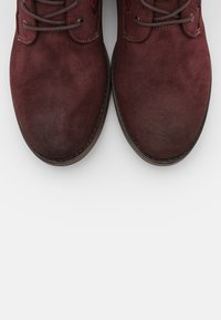 Mustang - Lace-up ankle boots - bordeaux - 5