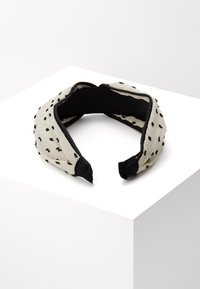 Topshop - POLKA DOT HEADBAND - Hair styling accessory - black/white - 1