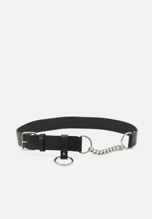 CHAIN IMITATION BELT UNISEX - Riem - black/silver-coloured
