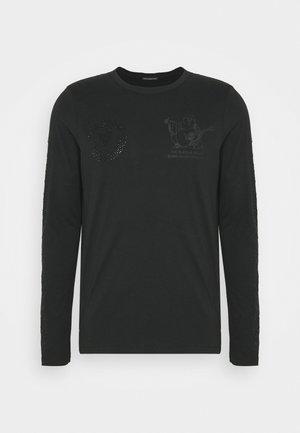 LONGSLEEVE LOGO MULTI MIX - Top sdlouhým rukávem - black