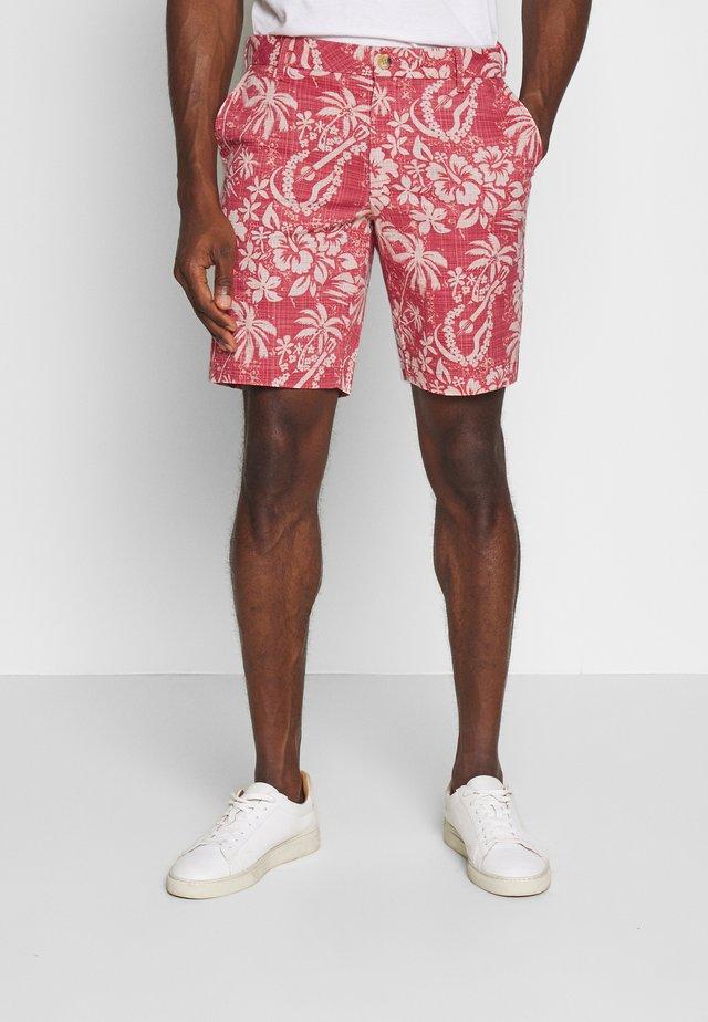 PRINTED GUITAR  - Shorts - saltwater red