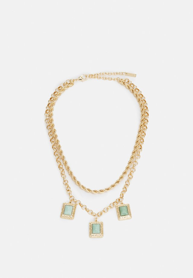 STONE ROW - Necklace - gold-coloured