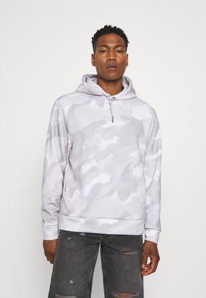 GREY TIE DYE HOODY - Sweatshirt - grey