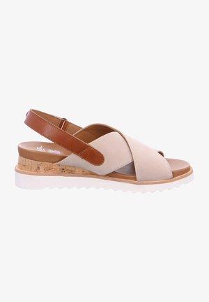 VALENCIA - Wedge sandals - sand