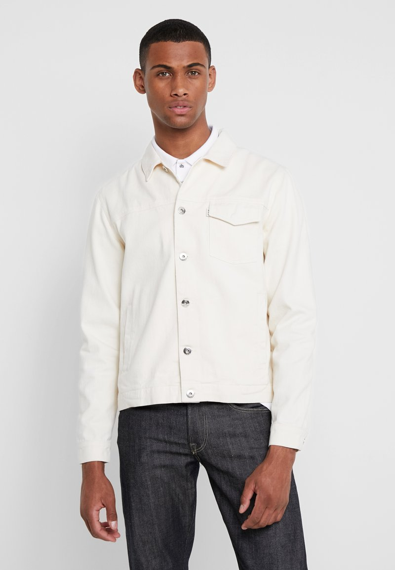 FoR - TRUCKER JACKET - Denim jacket - ecru