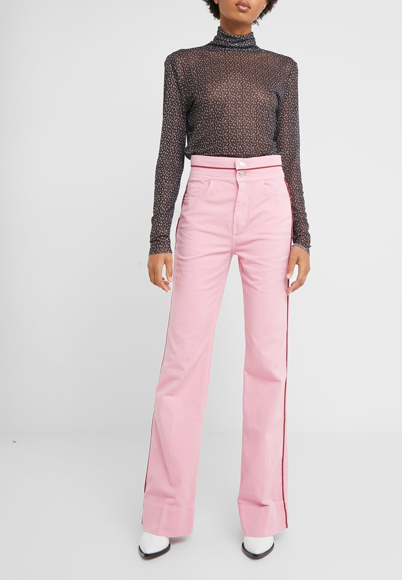 Current/Elliott - THE PIPED 5-POCKET MARITIME PANT - Jeans baggy - sea pink