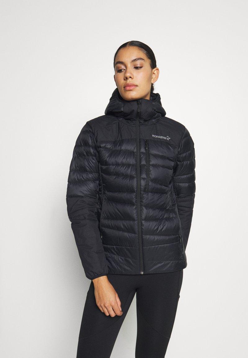 Norrøna - FALKETIND HOOD - Down jacket - black