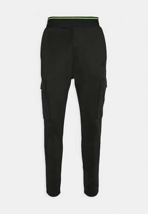 ADAPT CRUSHED PANT - Cargo trousers - black