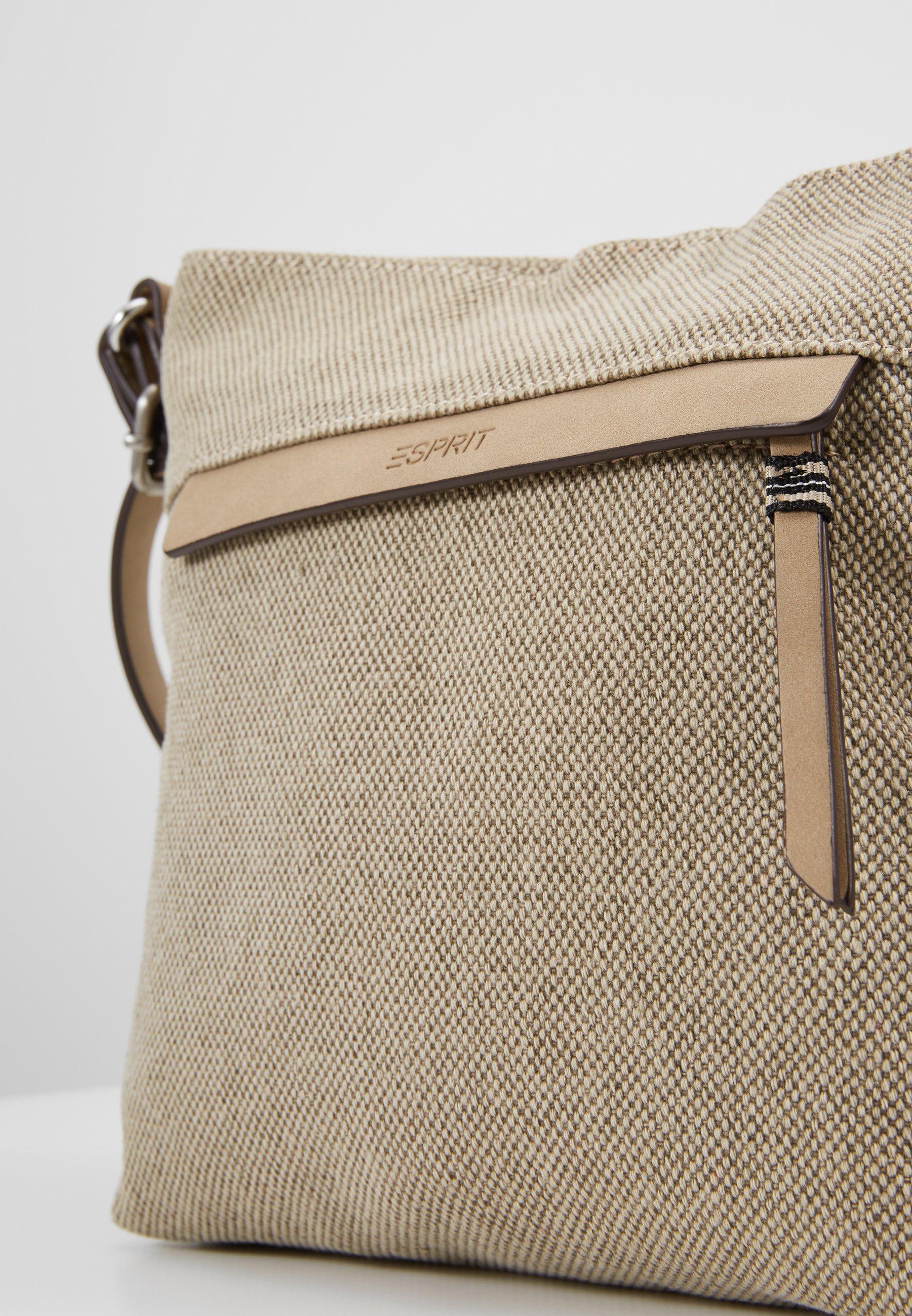 Esprit CARA SHOULDBAG Axelremsväska khaki beige Zalando.se